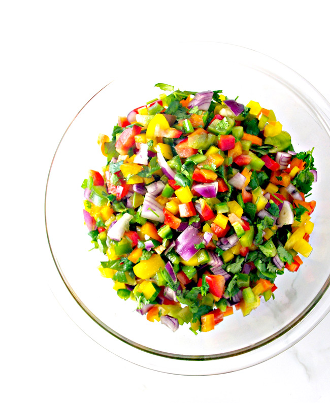 Hot 'n Spicy Pico de Gallo is vegan, paleo, and mouthwateringly tasty! | spiritedandthensome.com