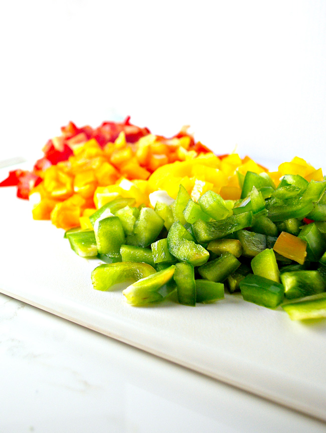 If the colors are any indication, eating Hot 'n Spicy Pico de Gallo is a ridiculously good time! | spiritedandthensome.com