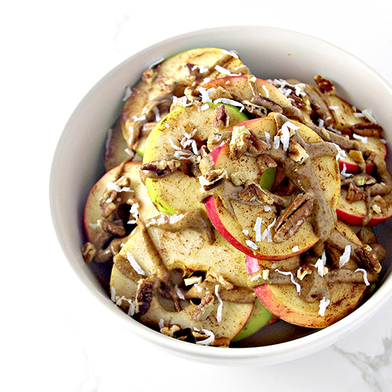 Loaded Apple Breakfast Nachos can be made with any apples you like! | spiritedandthensome.com