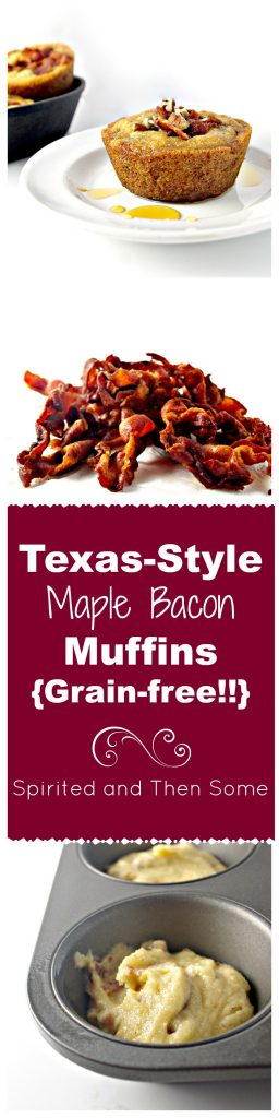 Texas-Style Maple Bacon Muffins are grain-free and dairy-free but full of sweet and savory flavor!   spiritedandthensome.com