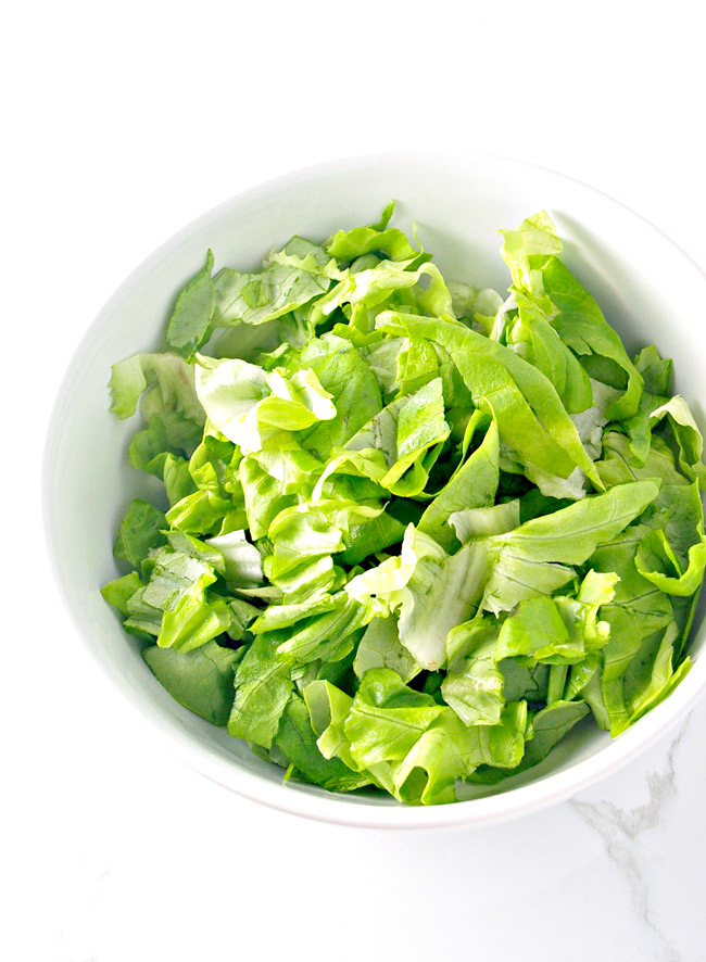 Any lettuce will do for Fresh Shrimp Tossed Salad! | spiritedandthensome.com