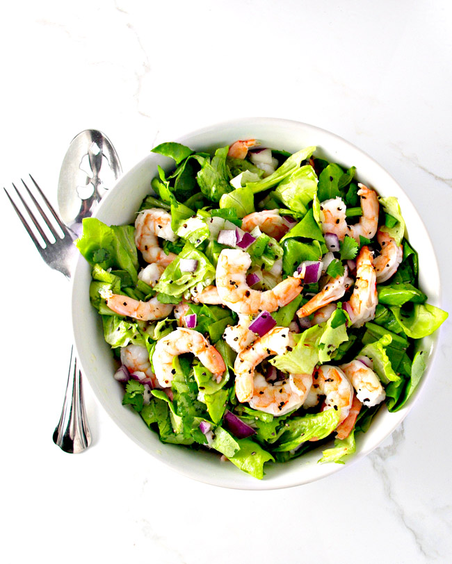 Fresh Shrimp Tossed Salad is a perfectly paleo recipe! | spiritedandthensome.com