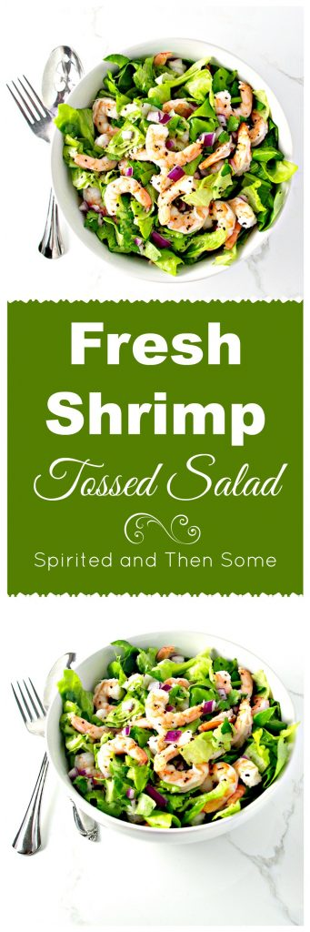Paleo Fresh Shrimp Tossed Salad is ready in minutes! | spiritedandthensome.com