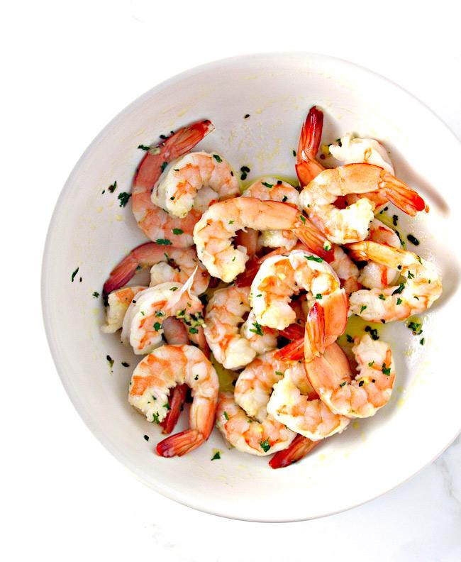 Toss seasonings mixture with shrimp for some Spicy Shrimp Seashell Tacos! | spiritedandthensome.com