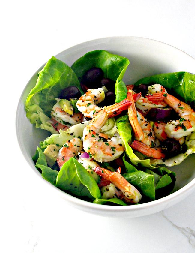 Spicy Shrimp Seashell Tacos are restaurant-style quality! | spiritedandthensome.com