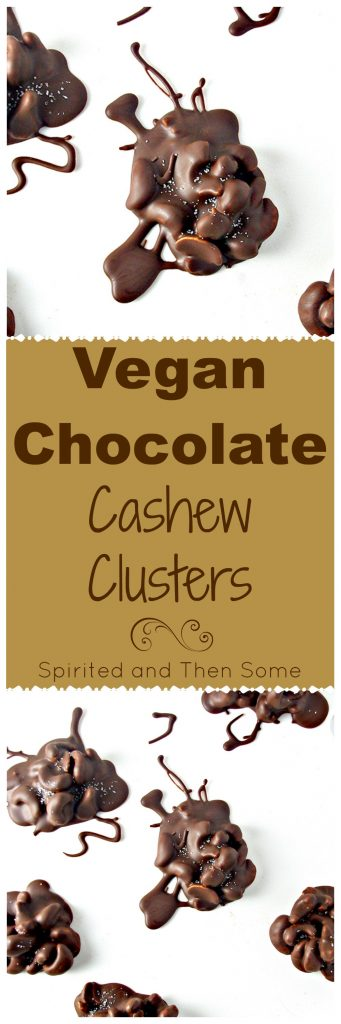 No-Bake Vegan Chocolate Cashew Clusters are ready in minutes! Paleo variation, too! | spiritedandthensome.com