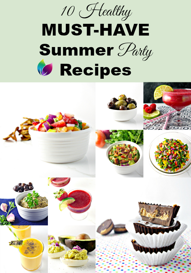 10 Healthy Must-Have Summer Party Recipes! | spiritedandthensome.com