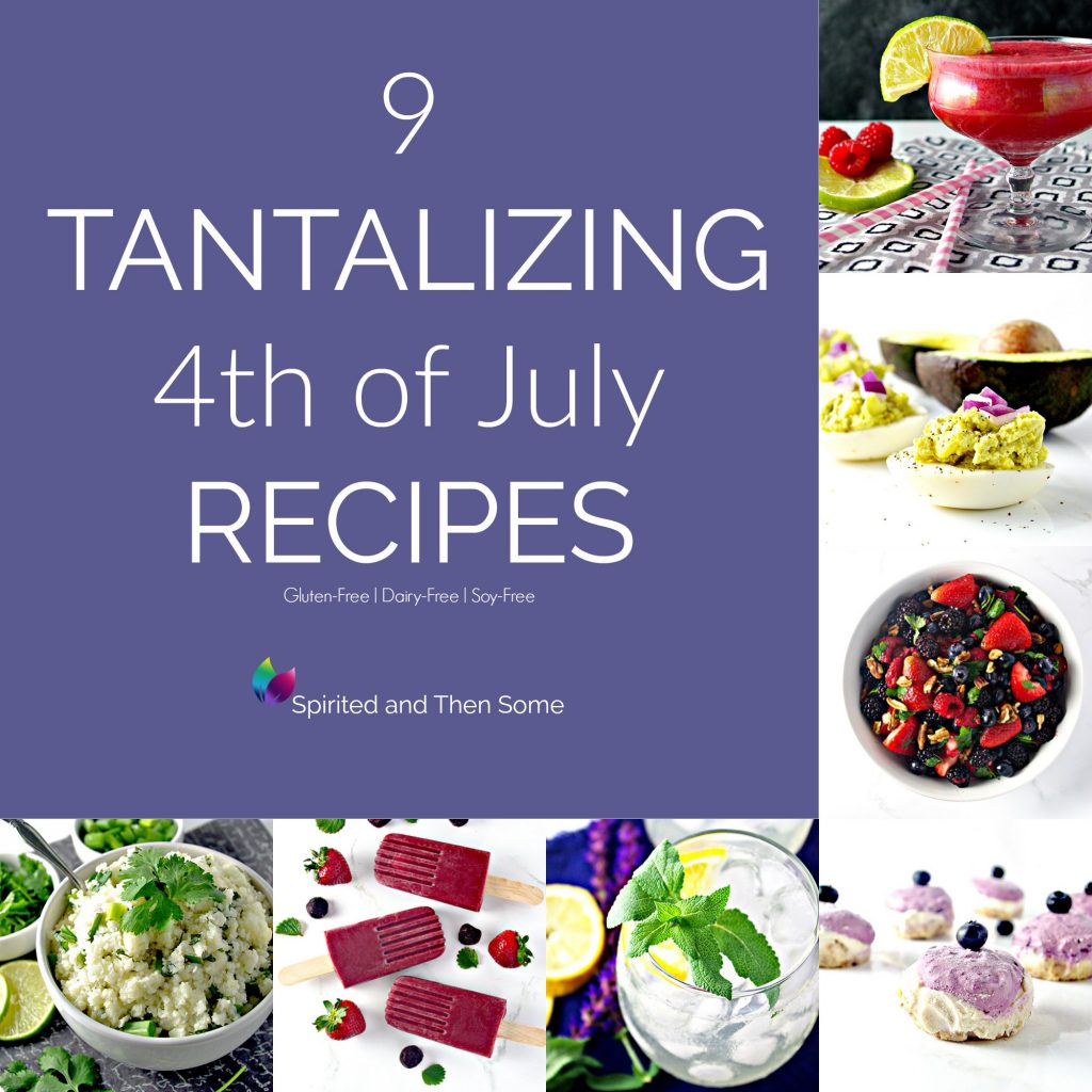 9 Tantalizing Red, White, and Blue Fourth of July Recipes! | spiritedandthensome.com