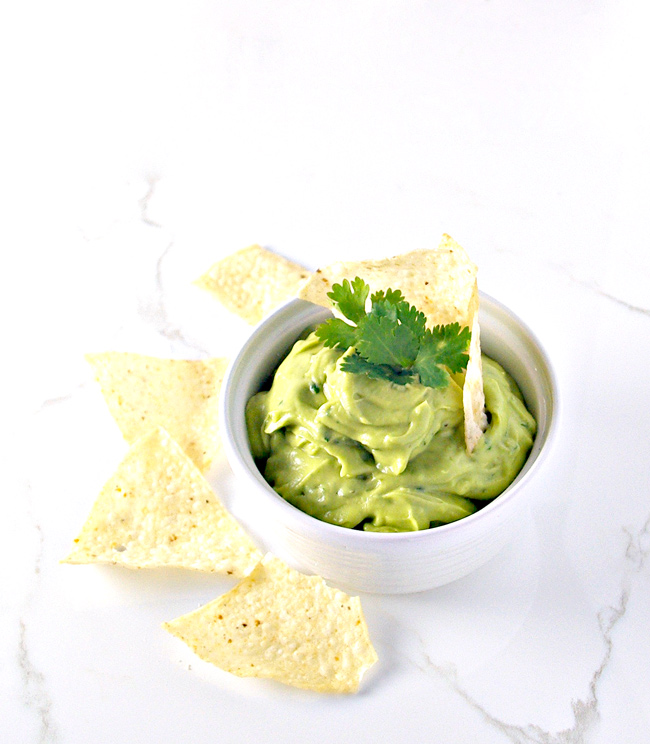 Perfect with main courses and appetizers, Creamy Avocado Lime Spread is versatile! | spiritedandthensome.com