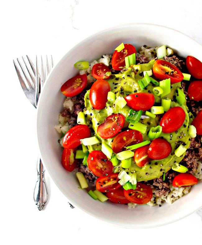 Paleo Cauliflower Rice Tacos are mouthwateringly addictive!   spiritedandthensome.com