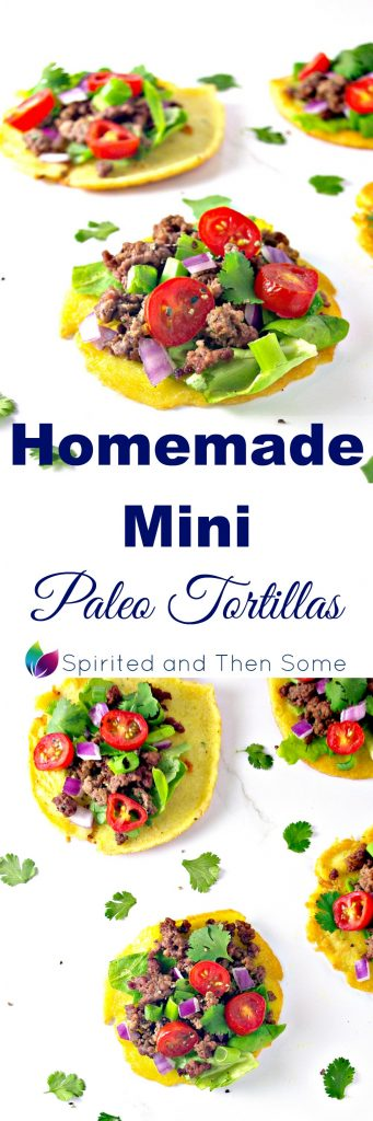 With just 6 base ingredients, these Homemade Mini Paleo Tortillas are quick and easy to make and delicious to eat! | spiritedandthensome.com