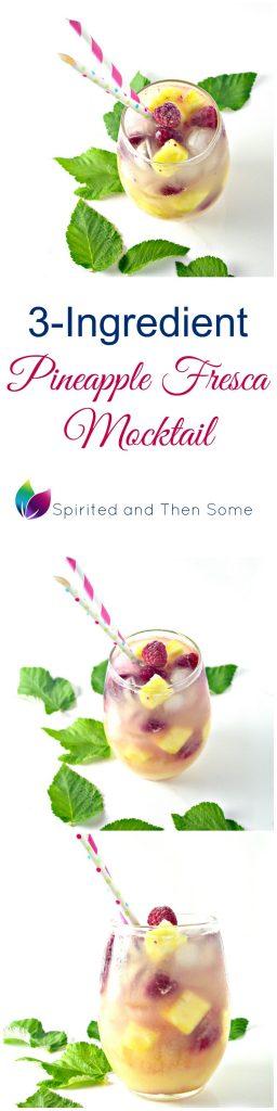 3-Ingredient Pineapple Fresca Mocktail is the perfect summer drink! | spiritedandthensome.com