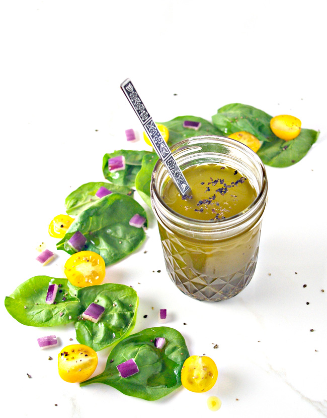 Spring into summer with Lemon Celery Seed Dressing! Ready in minutes! | spiritedandthensome.com