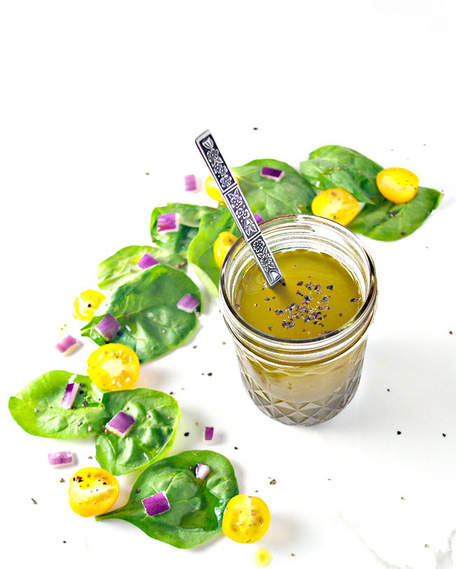 Summery flavors abound in this delicious vegan and paleo Lemon Celery Seed Dressing! | spiritedandthensome.com