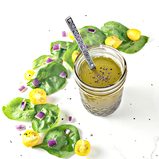Tangy, zesty Lemon Celery Seed Dressing is so mouthwatering and ready in minutes! | spiritedandthensome.com