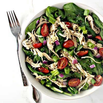 Slow-Cooker Peppered Chicken Salad