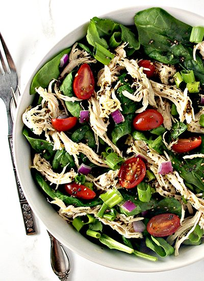 Slow-Cooker Peppered Chicken Salad is paleo and delicious and easy to make in the Crock-Pot! | spiritedandthensome.com
