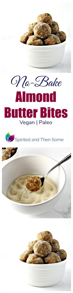 No-Bake Almond Butter Bites are deliciously vegan and paleo! | spiritedandthensome.com