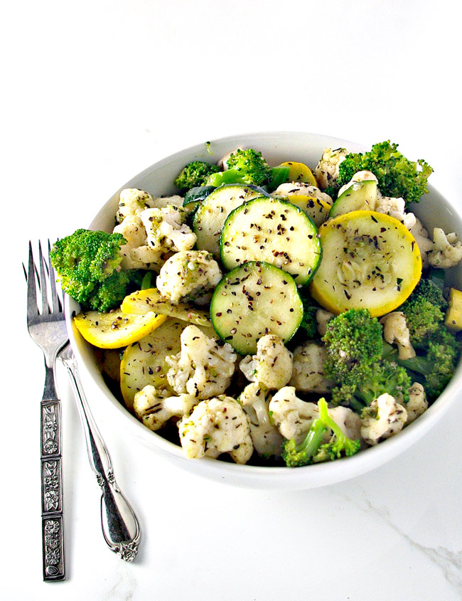 Easy Paleo Quick-Steamed Vegetables are the perfect side dish for the holidays!   spiritedandthensome.com