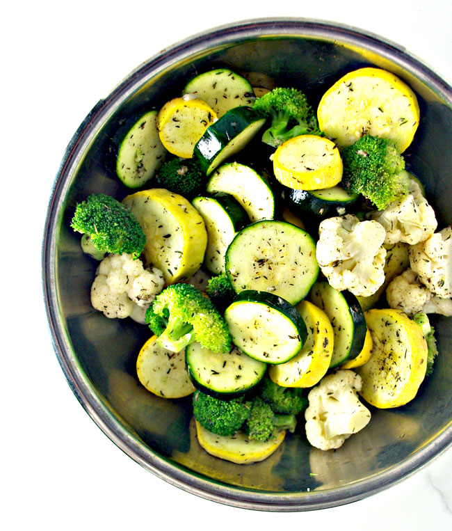 Easy Paleo Quick-Steamed Vegetables are ready within about 30 minutes and are full of delicious savory flavors!   spiritedandthensome.com