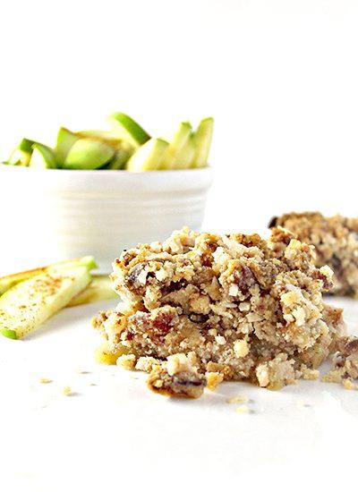 Delicious vegan Paleo Cinnamon Apple Crisp is perfect for breakfast or dessert!   spiritedandthensome.com