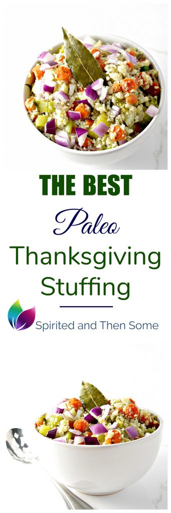The Best Paleo Thanksgiving Stuffing is a crowd pleaser the whole family will love! | spiritedandthensome.com