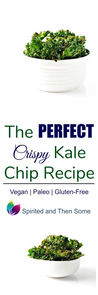 The Perfect Crispy Kale Chip Recipe is here Say good-bye to soggy kale chips! Paleo AND Vegan! | spiritedandthensome.com