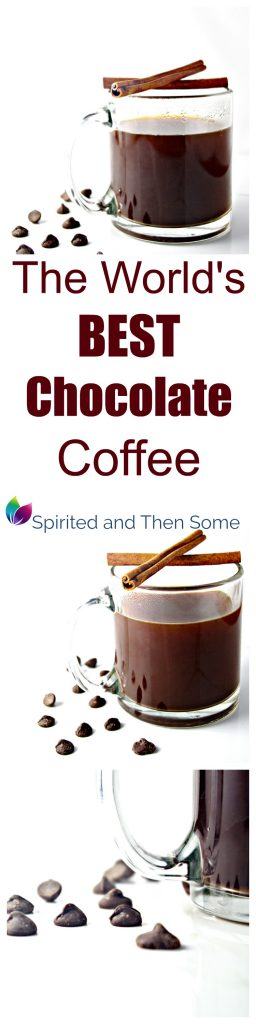The World's Best Chocolate Coffee is ready in minutes with hints of almond, cinnamon, and any other flavor you like! | spiritedandthensome.com