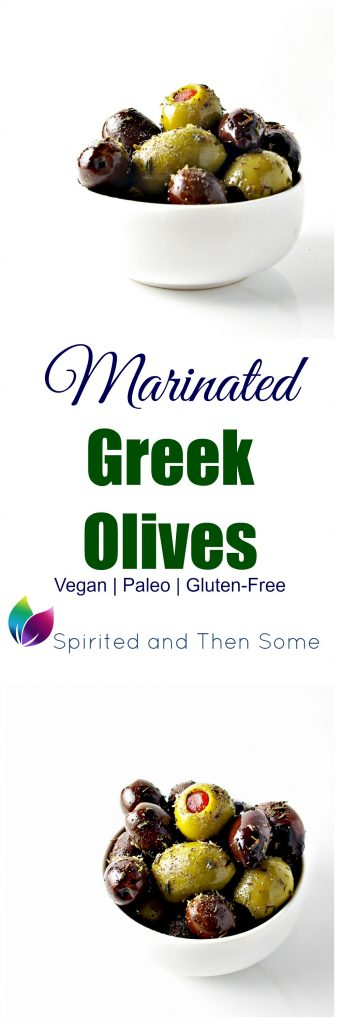 These Marinated Greek Olives are ready within minutes and are tastier than store bought! {vegan + paleo!} | spiritedandthensome.com