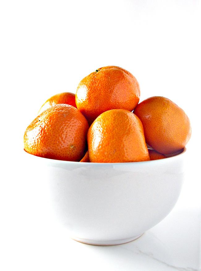 Fresh mandarin oranges are the perfect fruit for this vegan chocolate recipe! | spiritedandthensome.com