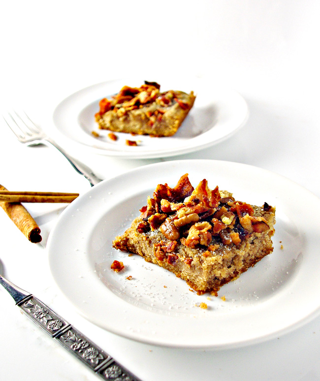 Grain-Free Maple Bacon Coffee Cake is a family favorite gluten-free and dairy-free recipe in our house! | spiritedandthensome.com