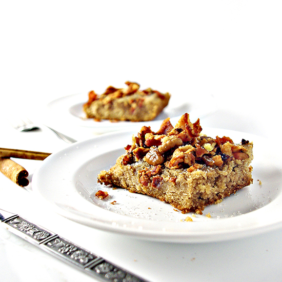 Grain-Free Maple Bacon Coffee Cake is a delicious gluten-free, dairy-free, soy-free dessert recipe the whole family will love! | spiritedandthensome.com