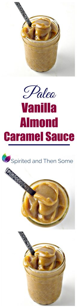 Paleo Vanilla Caramel Sauce is the perfect addition to countless recipes, including smoothies, muffins, donuts, and fruit! | spiritedandthensome.com