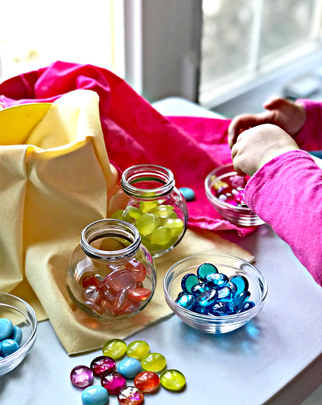 Sensory play and loose parts play activities for children of all ages! | spiritedandthensome.com