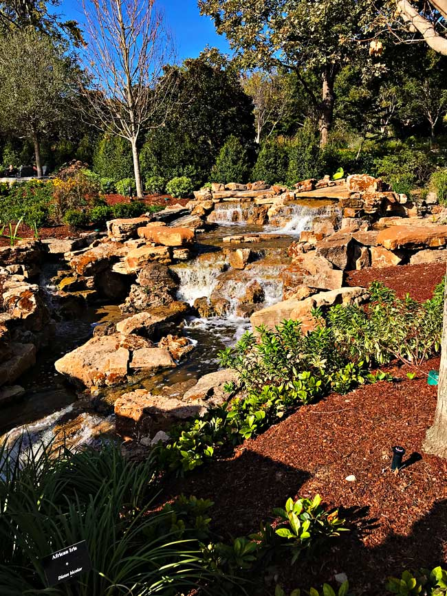Waterfall at Dallas Arboretum and Botanical Center! | spiritedandthensome.com