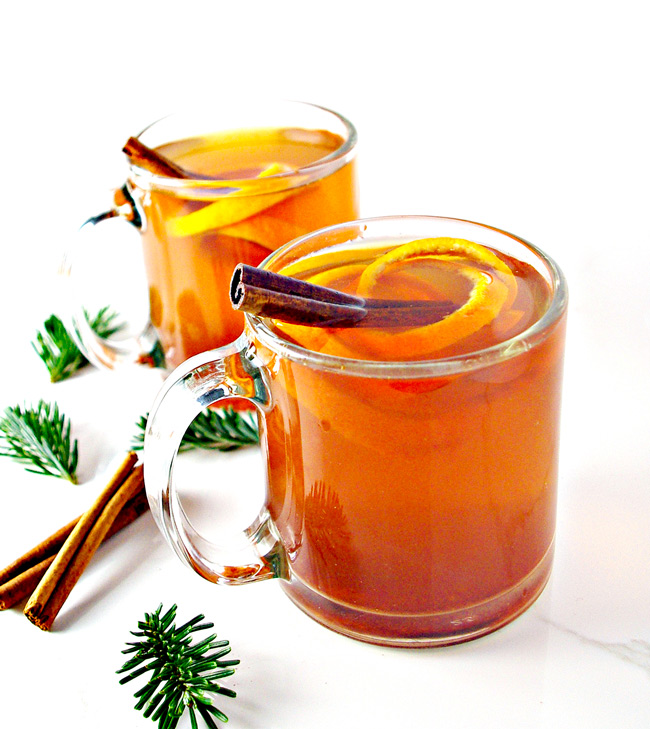 Cinnamon Orange Tea is the perfect comfort drink as the weather turns cold! | spiritedandthensome.com