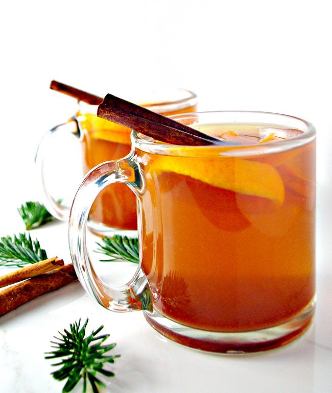 Cinnamon Orange Tea is my new favorite tea recipe! And I'm super picky! | spiritedandthensome.com