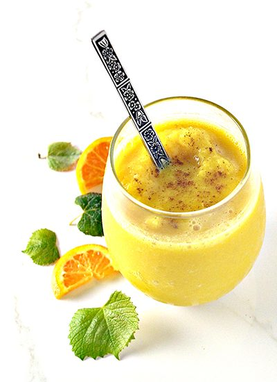 Dairy-free Cinnamon Vanilla Orange Juice can be made with vegan and paleo variations! | spiritedandthensome.com