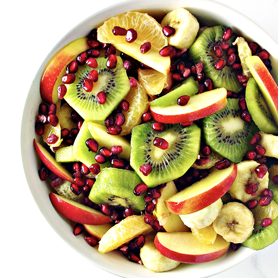 Paleo Winter Salad is gluten-free, full of delicious fruits, and is vegan, too! | spiritedandthensome.com