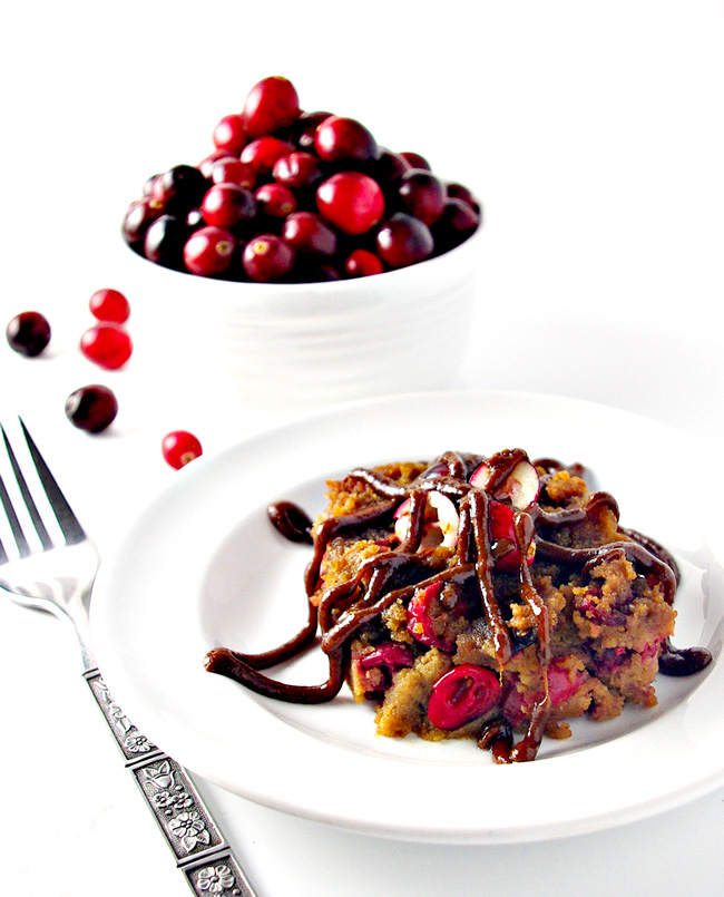 Paleo Cranberry Cake is dairy-free, gluten-free, grain-free, vegan, and can sugar-free! And still delicious!!! | spiritedandthensome.com