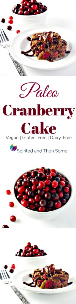 Paleo Cranberry Cake is gluten-free, dairy-free, and soy-free, and comes complete with a coconut sugar icing! | spiritedandthensome.com