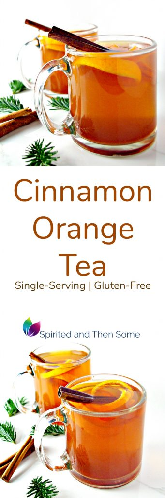 Single-Serving Cinnamon Orange Tea is gluten-free, comforting, and ready in minutes! | spiritedandthensome.com