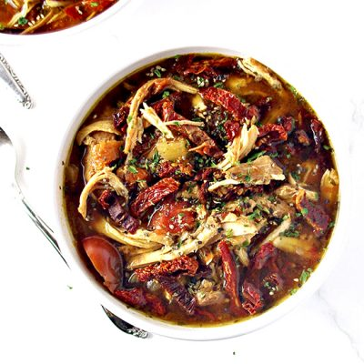 Sun-Dried Tomato Chicken Soup