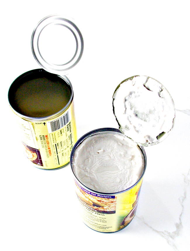 Cans of full-fat coconut milk for Paleo Tzatziki Sauce! | spiritedandthensome.com