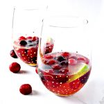 This Cherry Lime Champagne Cocktail is the perfect blend of sweet with a little kick! | spiritedandthensome.com