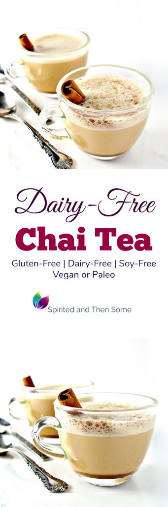 Dairy-Free Chai Tea is deliciously gluten-free and vegan or paleo! | spiritedandthensome.com