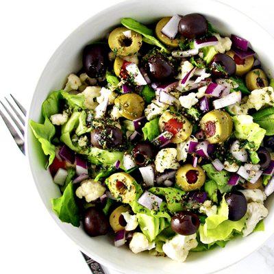 Italian Crunchy Cauliflower Salad