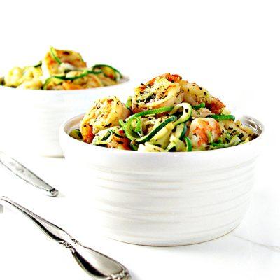 Italian Shrimp Scampi Zoodle Bowl