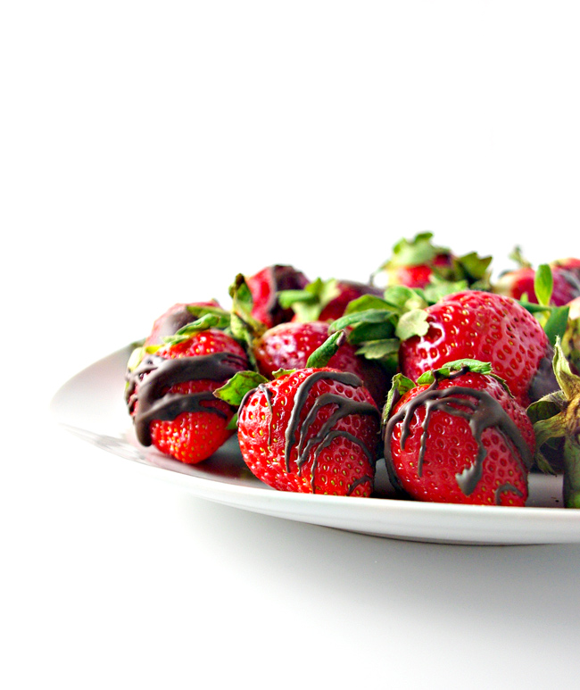 Go easy on the budget and big on flavor this Valentine's Day with homemade Dairy-Free Chocolate-Dipped Strawberries! Vegan and GF! | spiritedandthensome.com