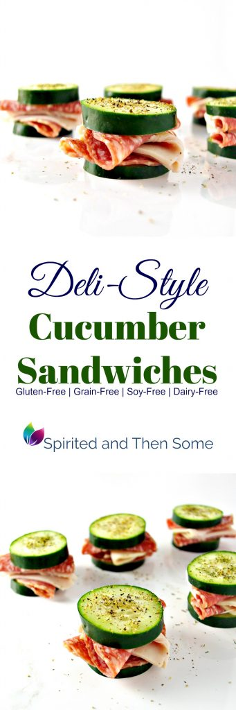 Deli-Style Cucumber Sandwiches are a delicious gluten-free, grain-free, dairy-free appetizer or brunch snack!